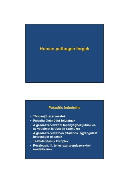 az enterobiasis kezelésének alapelvei