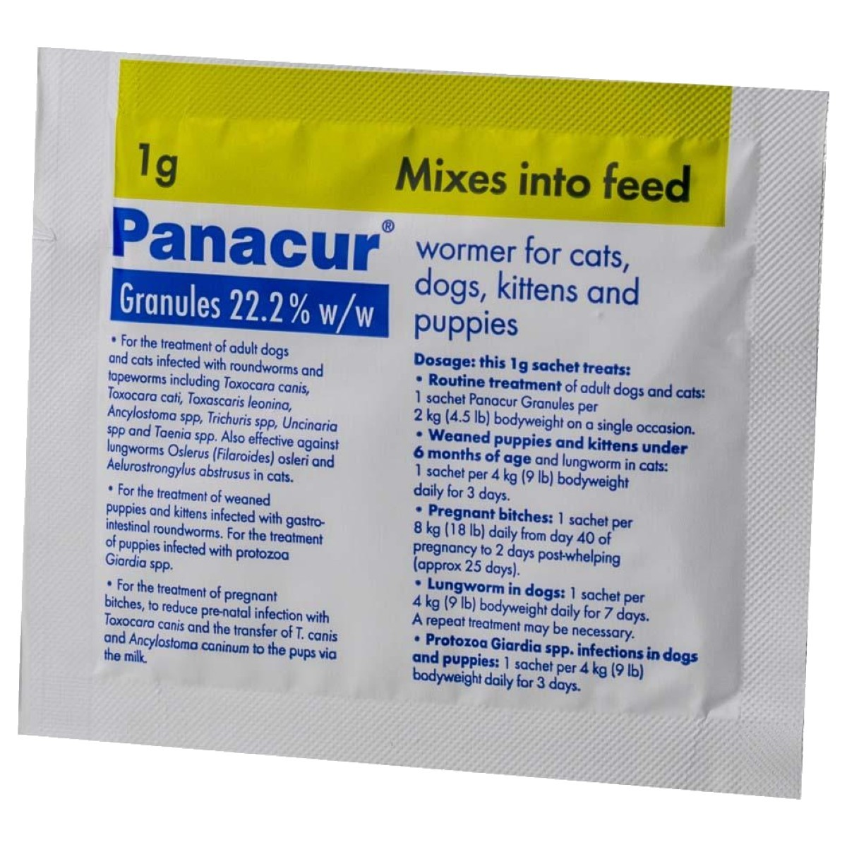 giardia panacur treatment